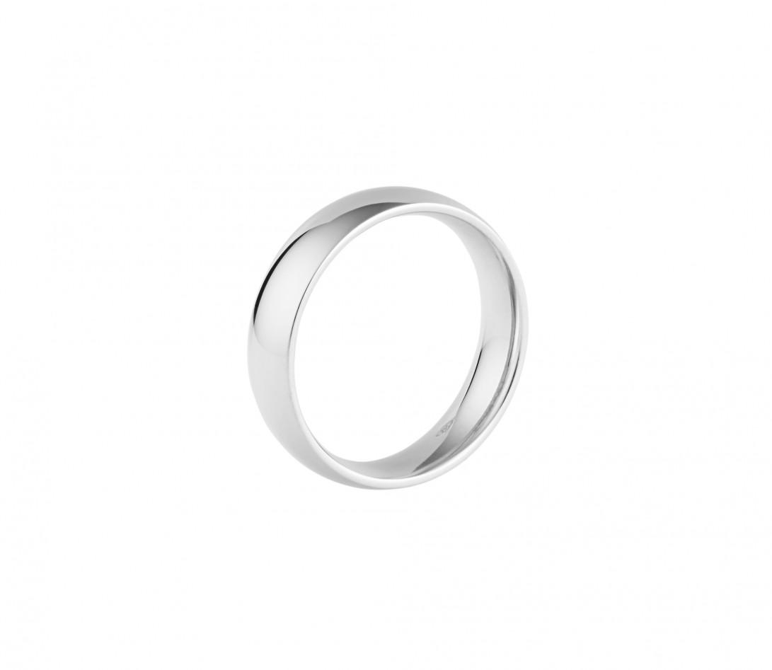 Alliance (5 mm) - Or blanc 18K (6,70 g) - Profil