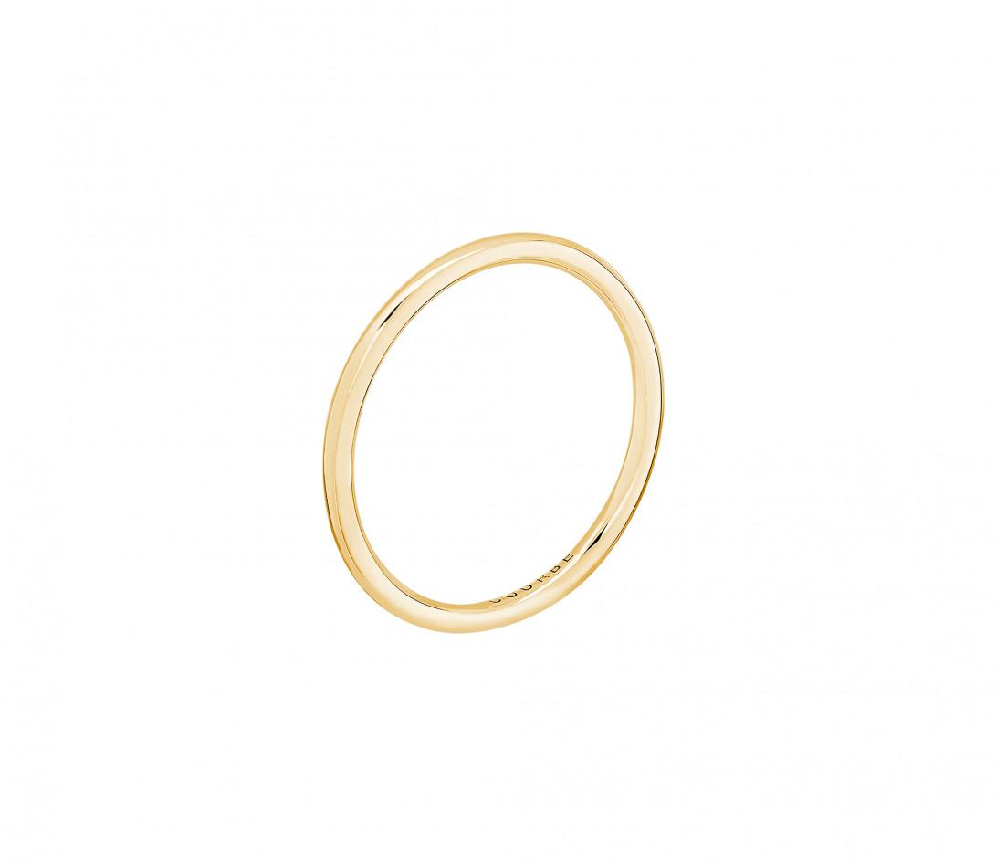 Alliance 1,5 mm demi-jonc en or jaune- vu de profil