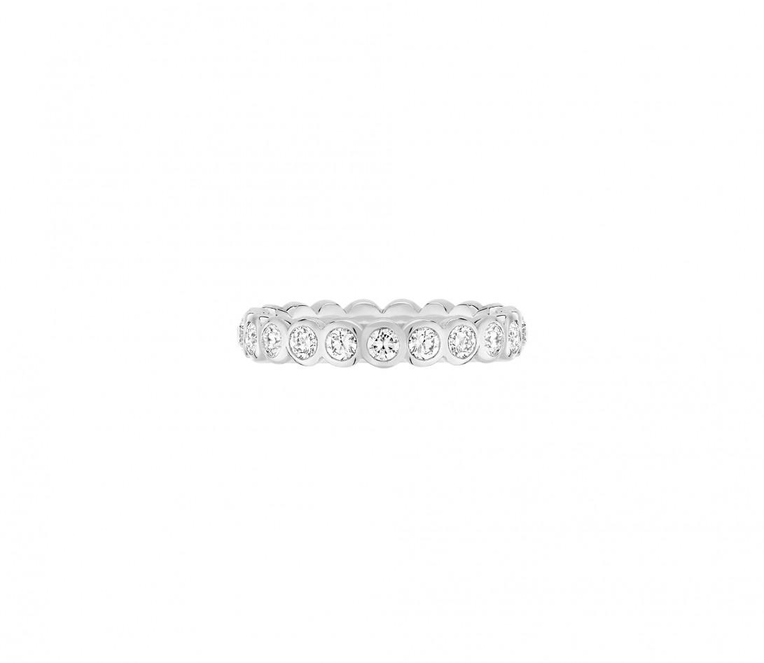 Anneau Or Blanc et Diamant de synthèse 1 ct - Origine - Courbet - Vue 1