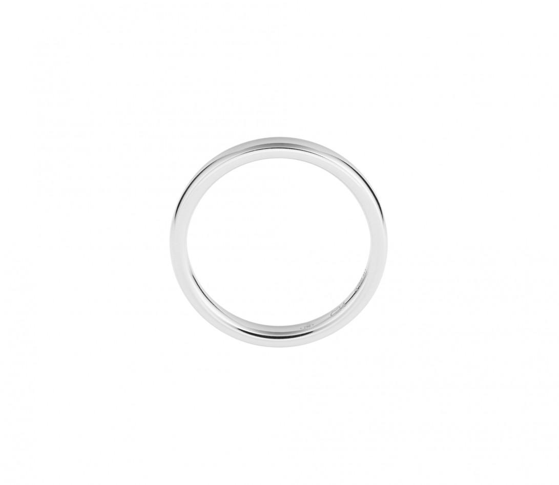 Alliance (3 mm) - Or blanc 18K (4,20 g) - Côté