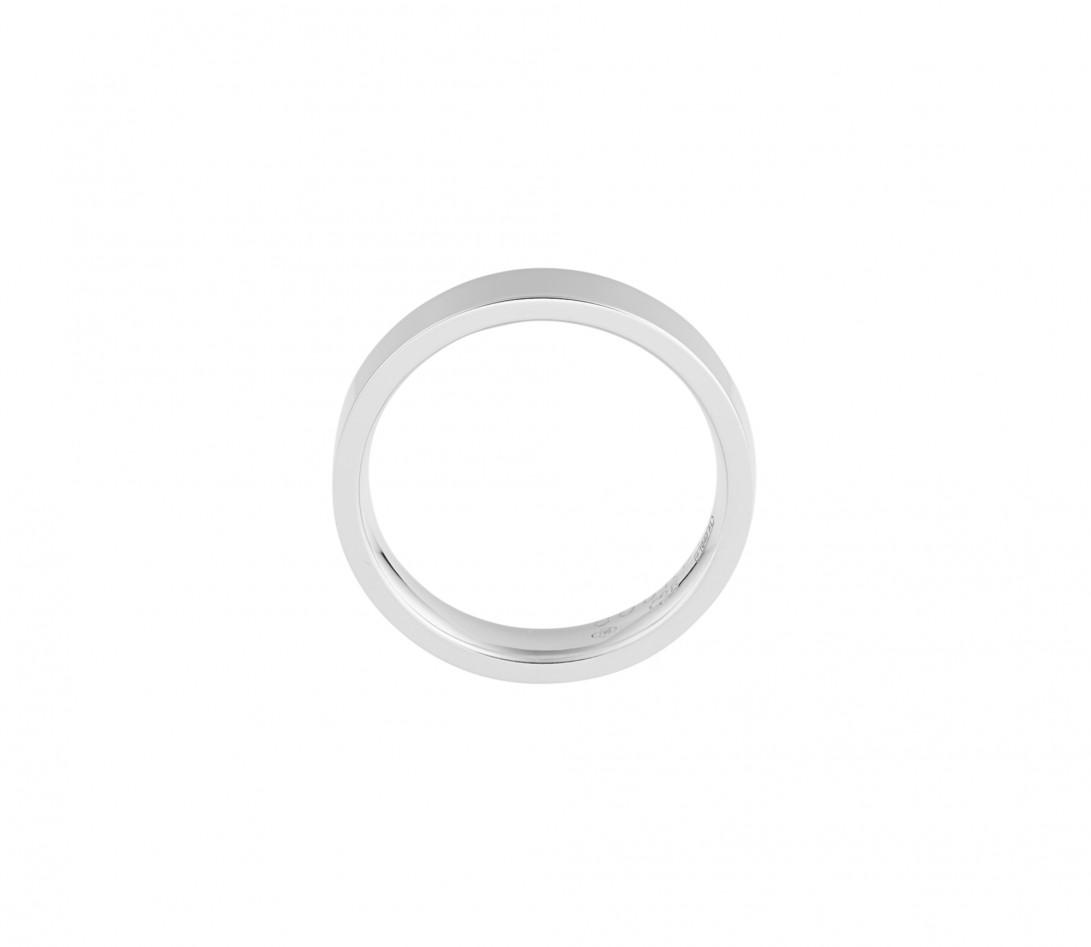Alliance (4 mm) - Or blanc 18K (6,00 g) - Côté