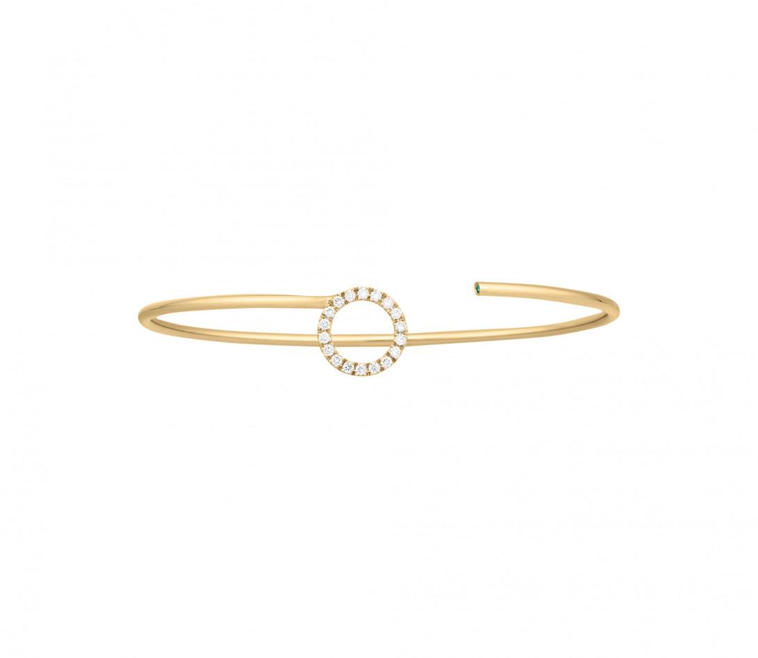 Bracelet O2 -Or jaune 18K (4,00 g), diamants 0,18 cts - Face