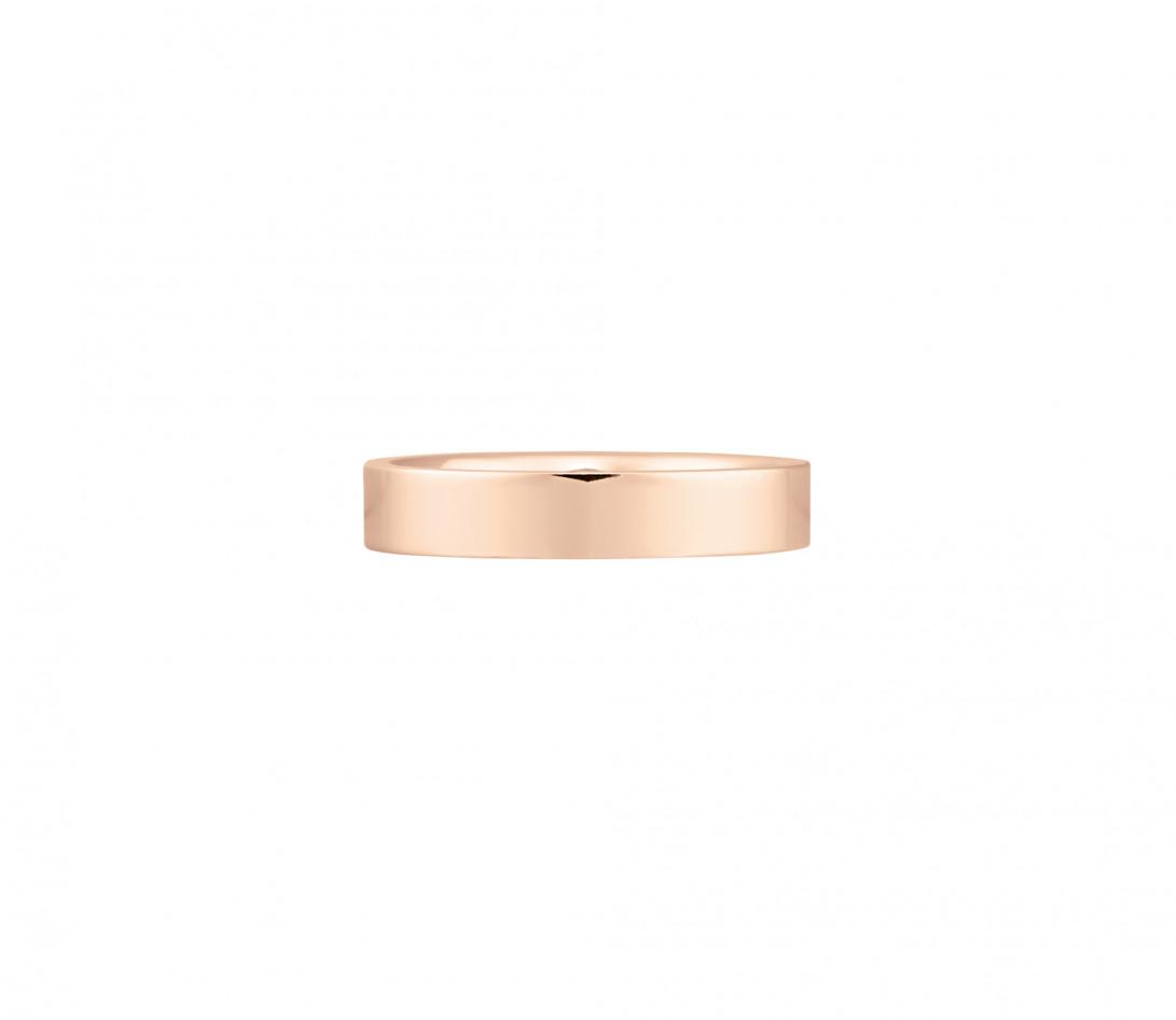 Alliance (4 mm) - Or rose 18K (6,00 g) - Face
