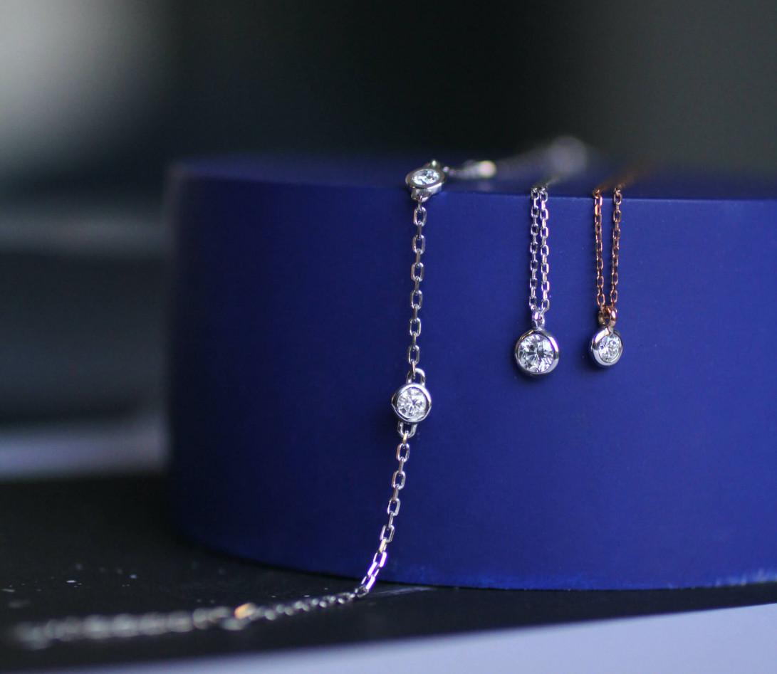 Bracelet Origine - Or blanc 18K (1,90 g), diamants 0,3 ct - Vue 4