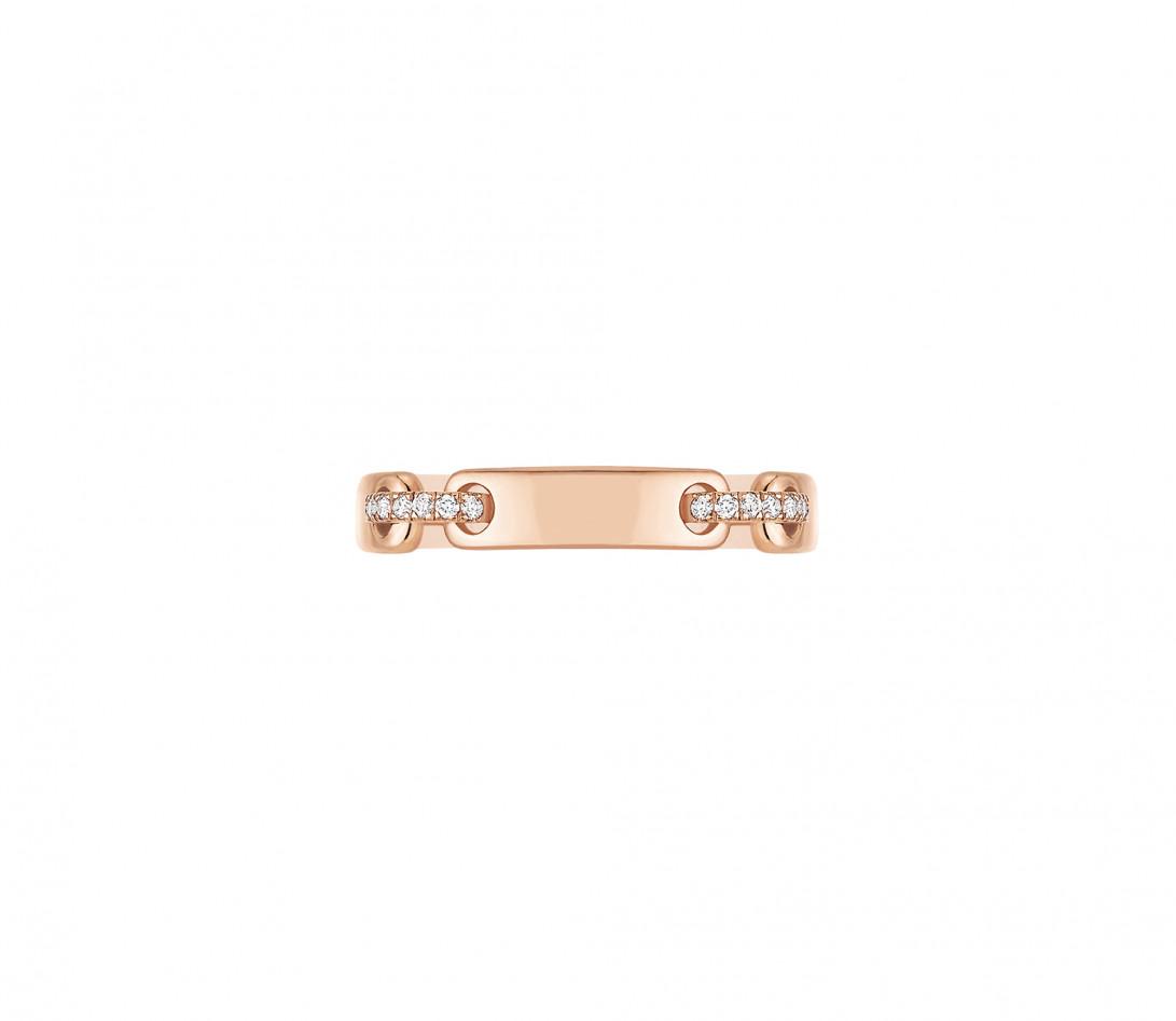Bague Or Rose et Diamants 0,15 ct - Céleste - Courbet - Vue 2