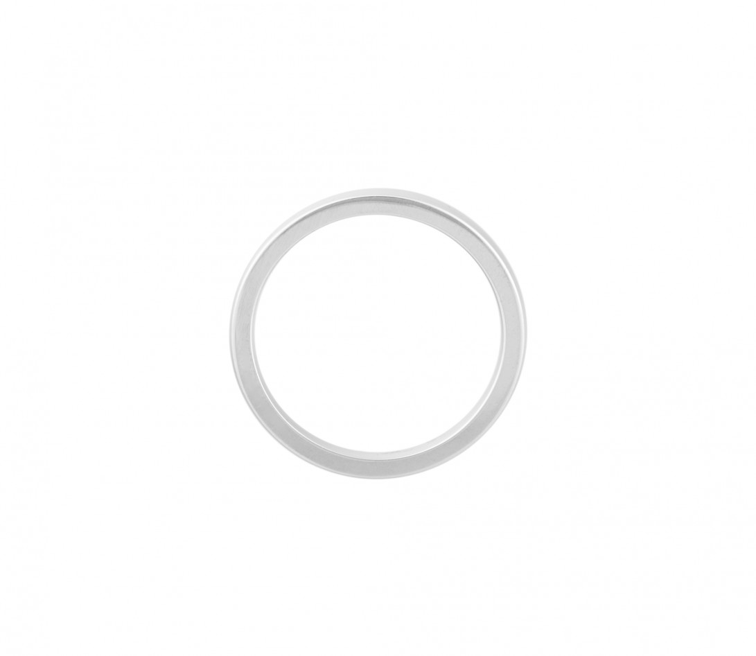 Alliance (1,8 mm) - Or blanc 18K (2,00 g) - Côté
