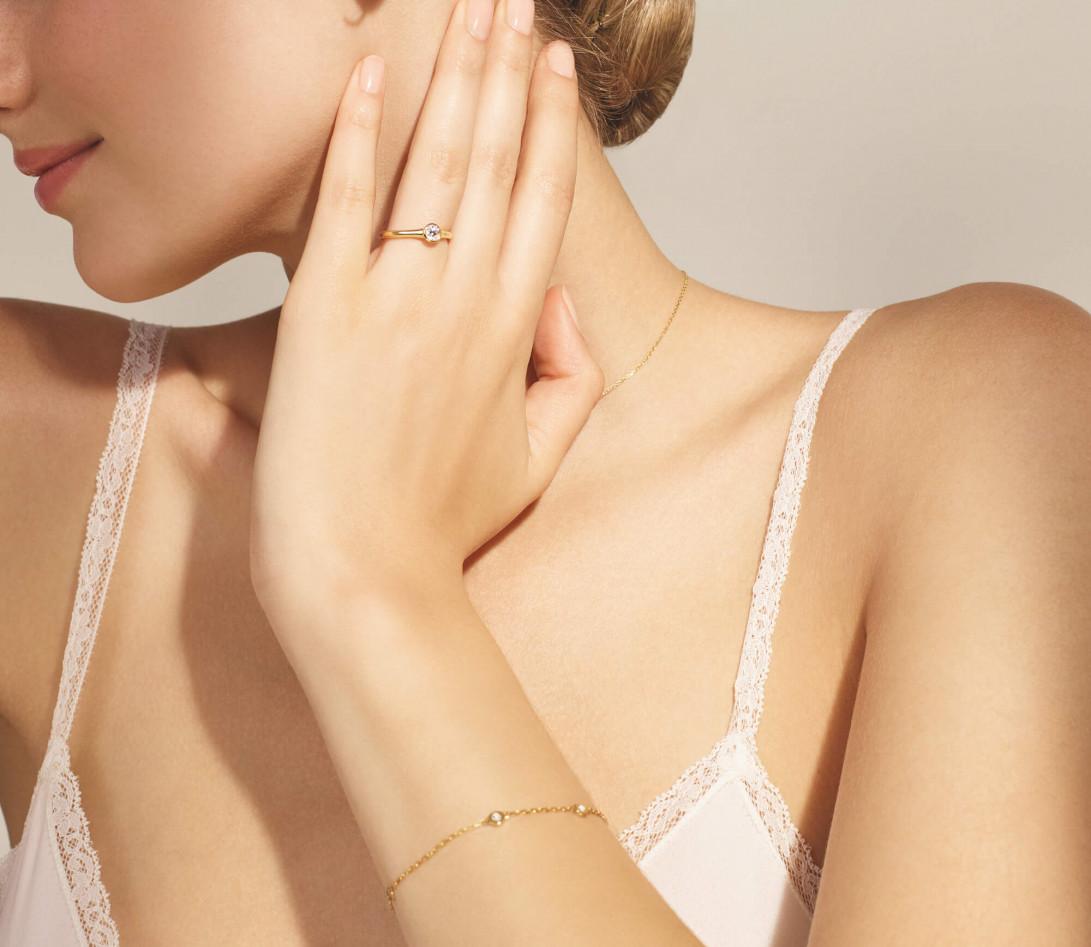 Bracelet Origine - Or jaune 18K (2,20 g), diamants 0,5 cts - Vue 4