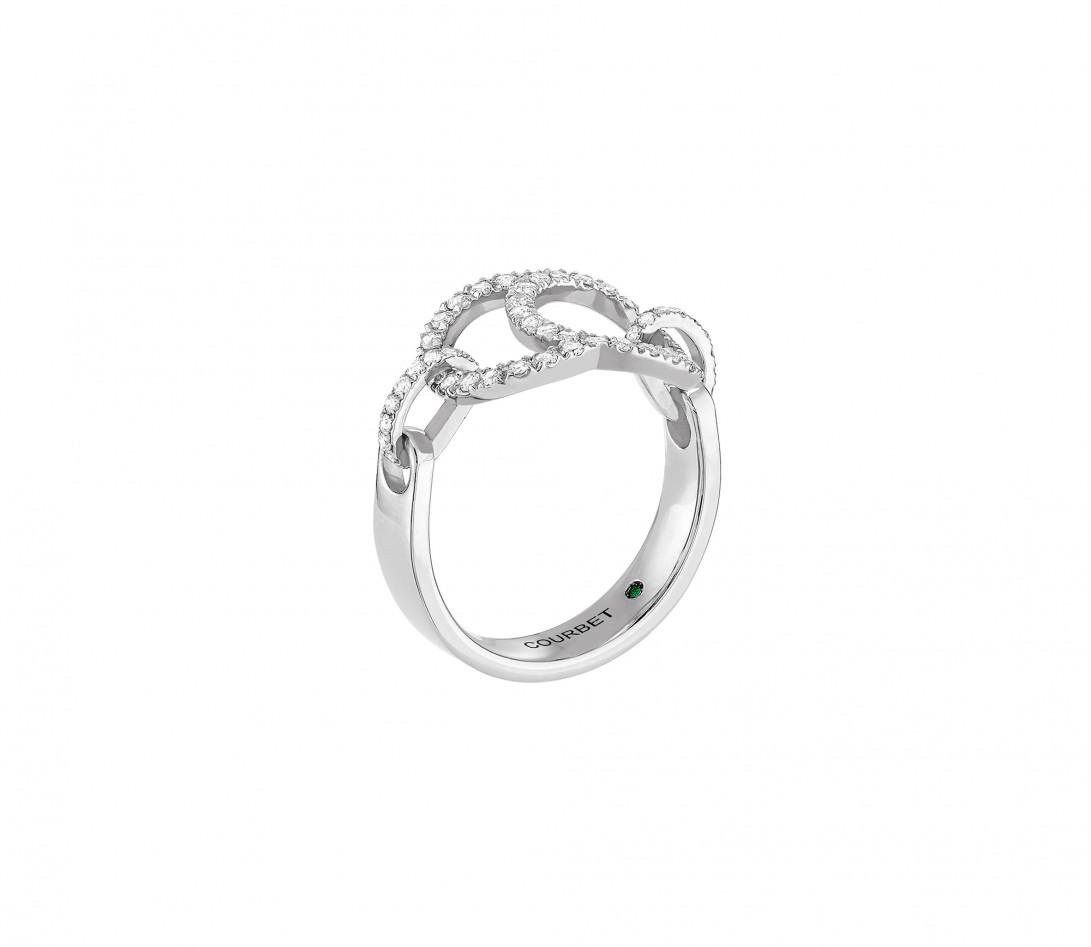 Bague Celeste - Or blanc 18K (5,20 g), diamants 0,50 ct - Vue 2
