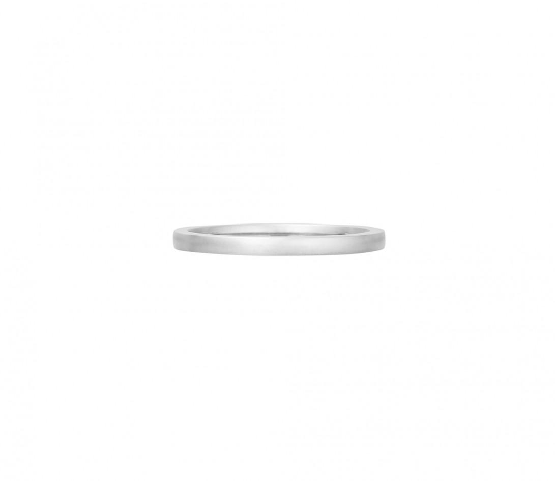 Alliance (1,8 mm) - Or blanc 18K (2,00 g) - Face