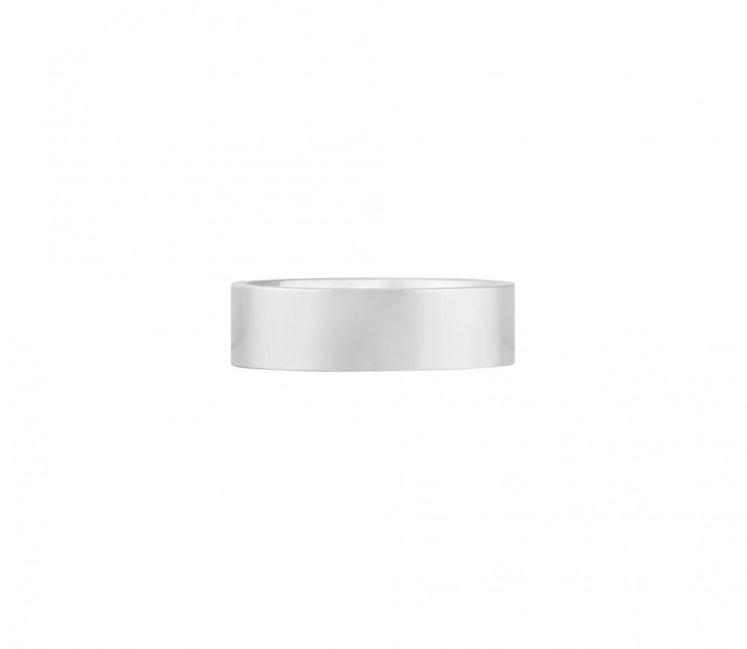 Alliance (6 mm) - Or blanc 18K (8,70 g) - Face
