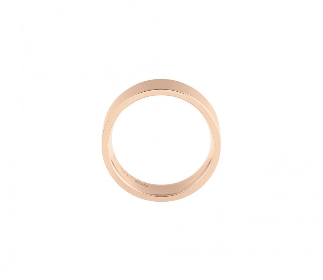 Alliance (6 mm) - Or rose 18K (8,70 g) - Côté