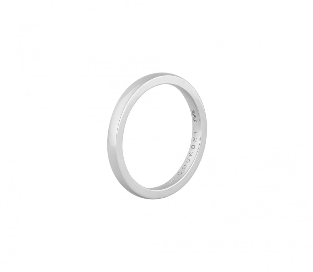 Alliance (1,8 mm) - Or blanc 18K (2,00 g) - Profil