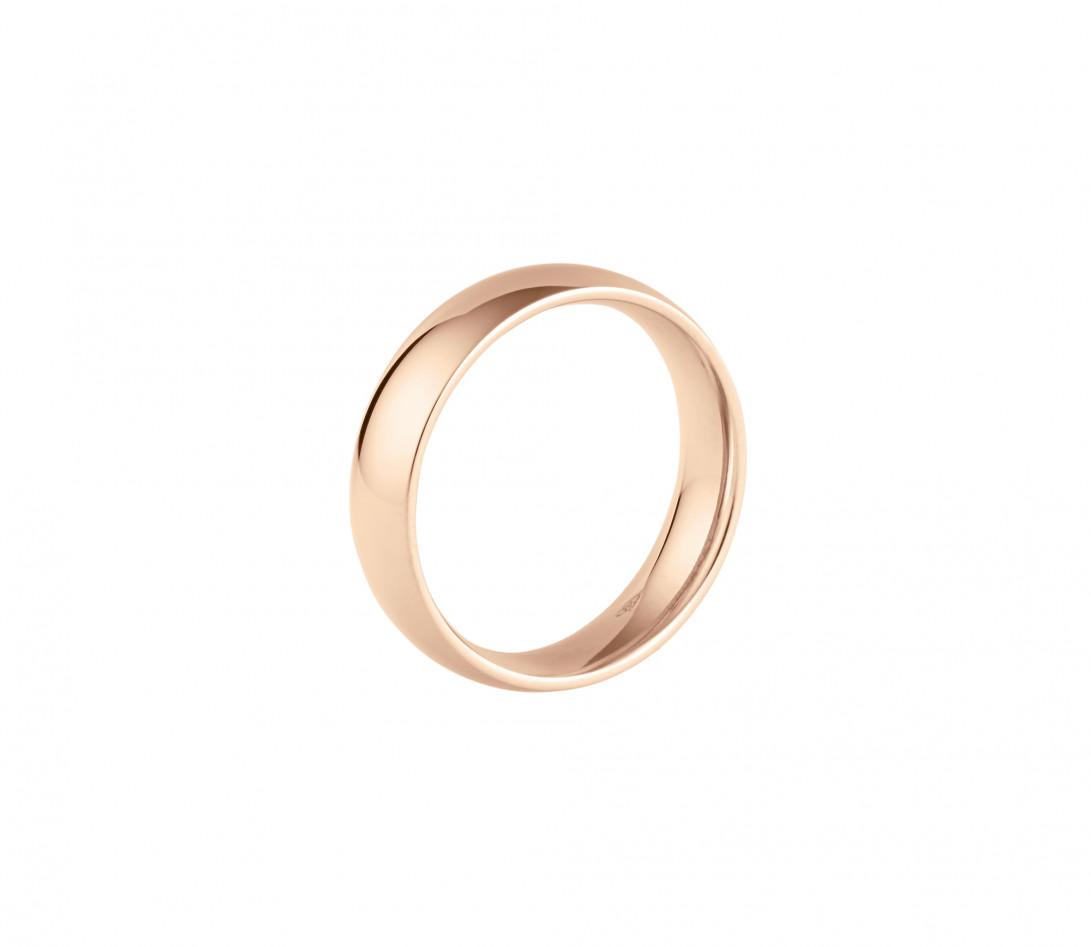Alliance (5 mm) - Or rose 18K (6,70 g) - Profil