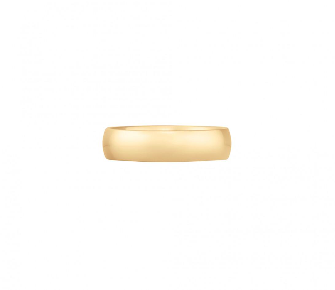 Alliance (5 mm) - Or jaune 18K (6,70 g) - Face