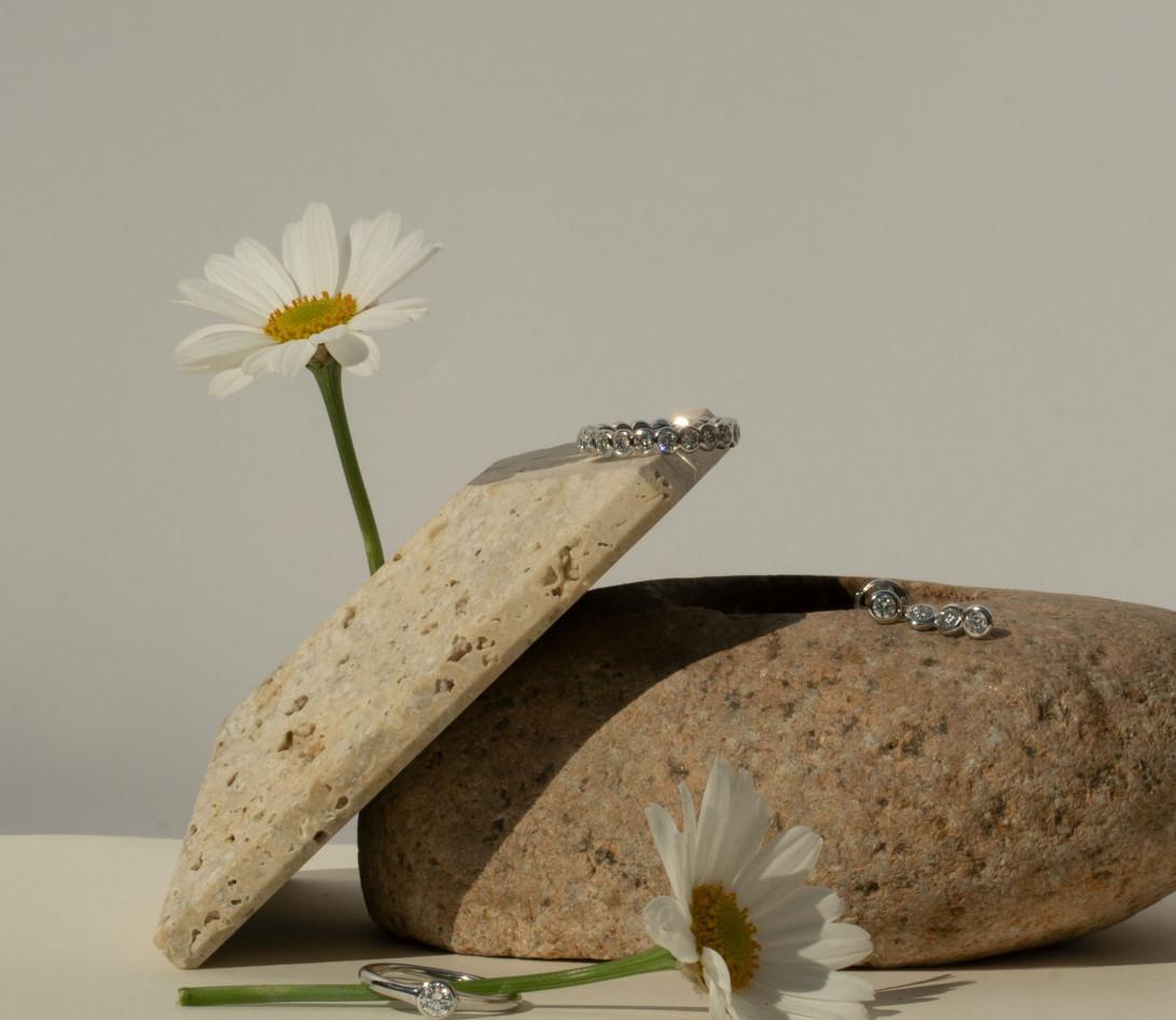 Anneau Or Blanc et Diamant de synthèse 1 ct - Origine - Courbet - Vue 6
