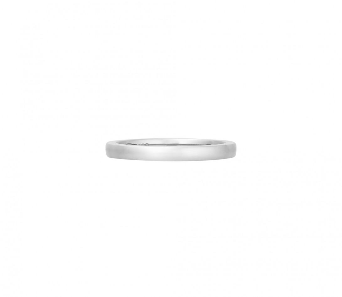 Alliance (2,3 mm) - Or blanc 18K (3,50 g) - Face