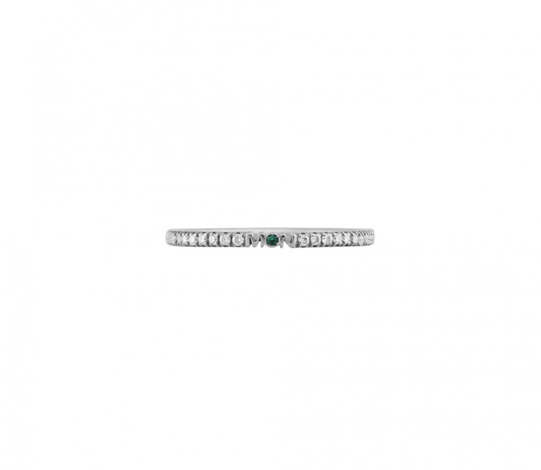 Alliance full-pavée (1,4 mm) - Or blanc 18K (1,00 g), diamants 0,20 ct