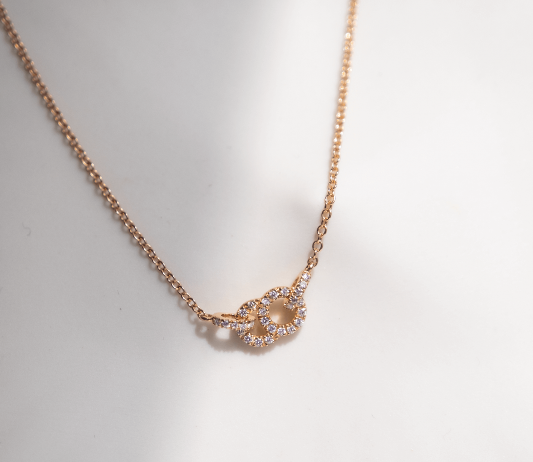 Collier pendentif CELESTE PM en or rose - Courbet - Vue 3