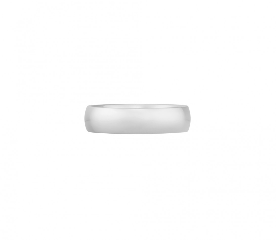 Alliance (5 mm) - Or blanc 18K (6,70 g) - Face