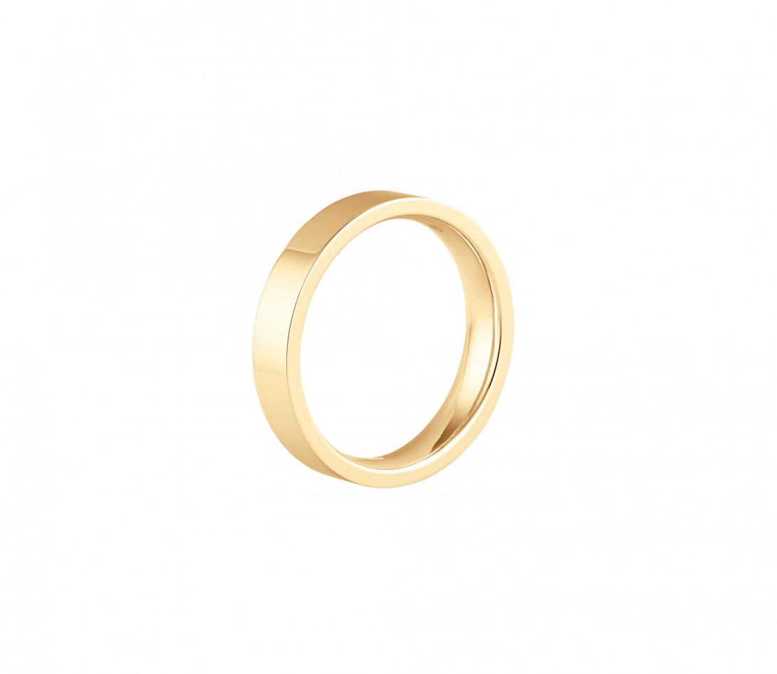 Alliance (4 mm) - Or jaune 18K (6,00 g) - Profil
