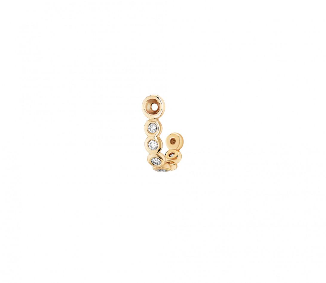 Accessoire mono boucle d'oreille ORIGINE en or jaune - Vue 1