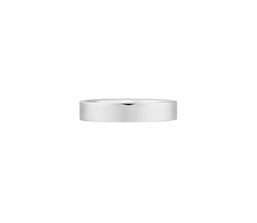 Alliance (4 mm) - Or blanc 18K (6,00 g) - Face