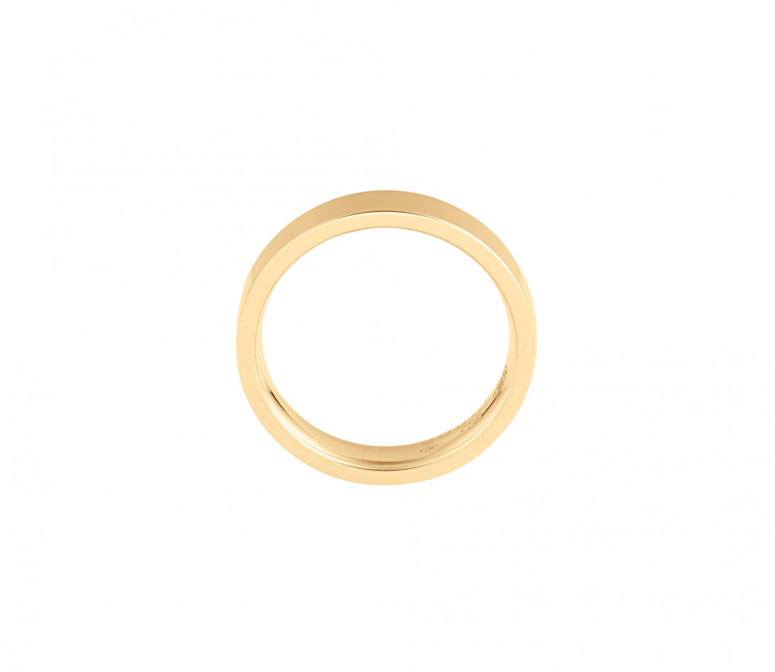 Alliance (4 mm) - Or jaune 18K (6,00 g) - Côté