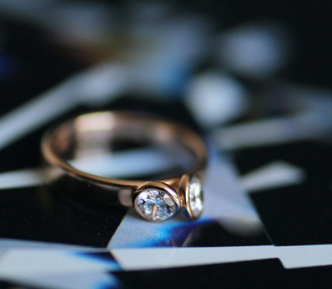 Bague 2 Courbet - Or rose 18K (3,50 g),  diamant 1 carat - Vue 5