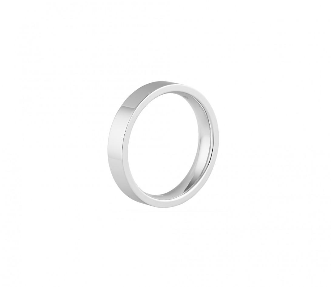 Alliance (4 mm) - Or blanc 18K (6,00 g) - Profil