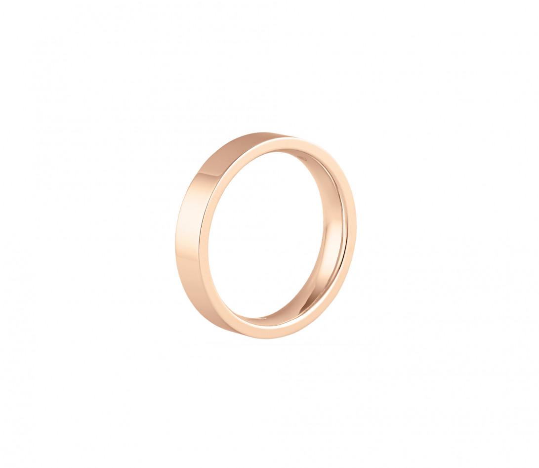 Alliance (4 mm) - Or rose 18K (6,00 g) - Profil
