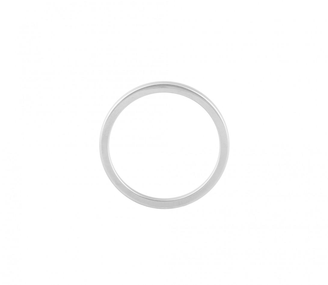 Alliance (2,3 mm) - Or blanc 18K (3,50 g) - Côté