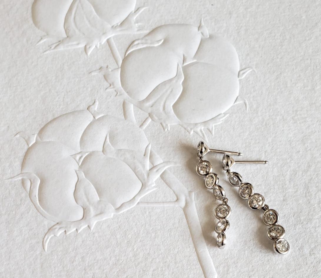 Boucles d'oreilles 2 COURBET en or blanc - Courbet - Vue 5