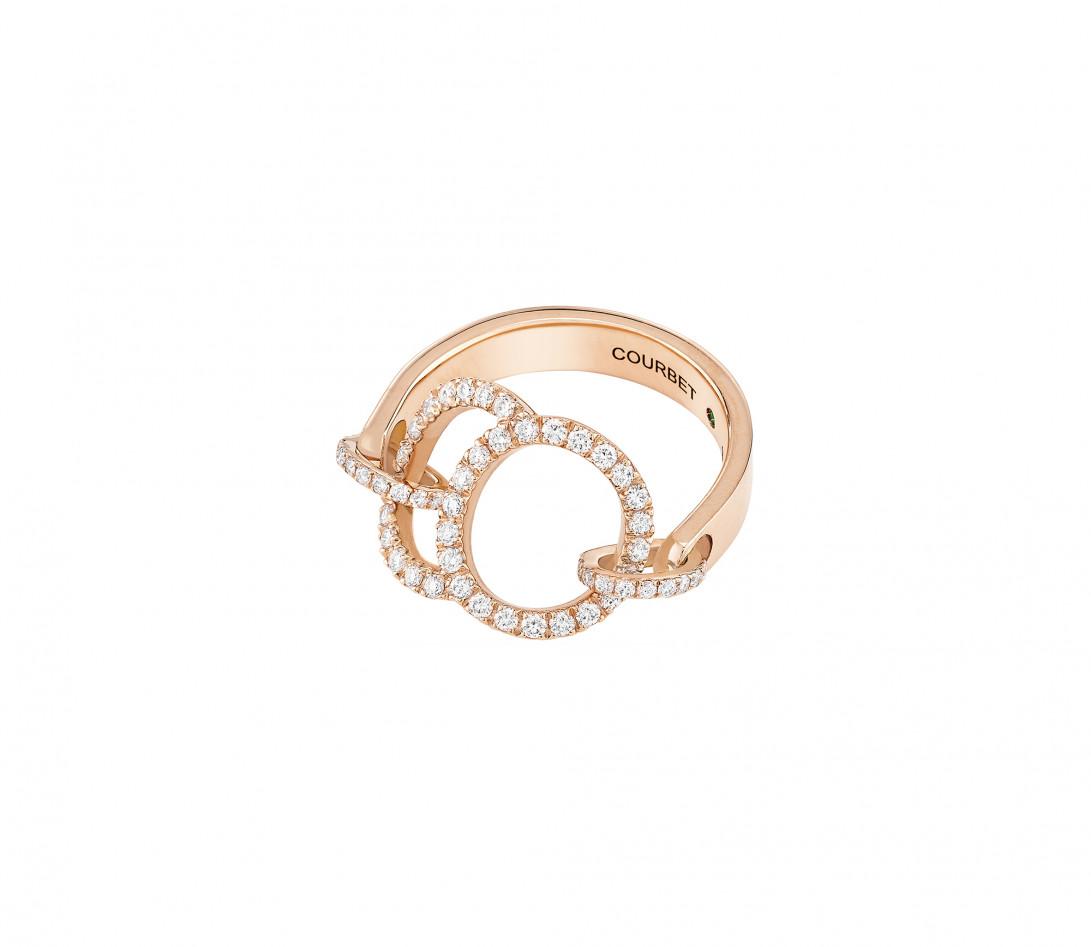 Bague Celeste - Or rose 18K (5,20 g), diamants 0,50 ct - Vue 4