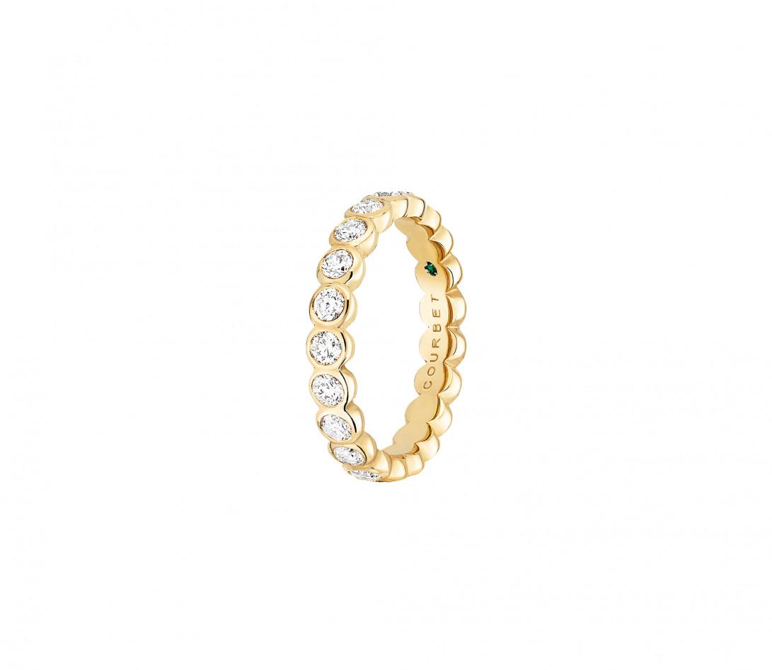 Anneau Or jaune et Diamant de synthèse 1 ct - Origine - Courbet - Vue 2