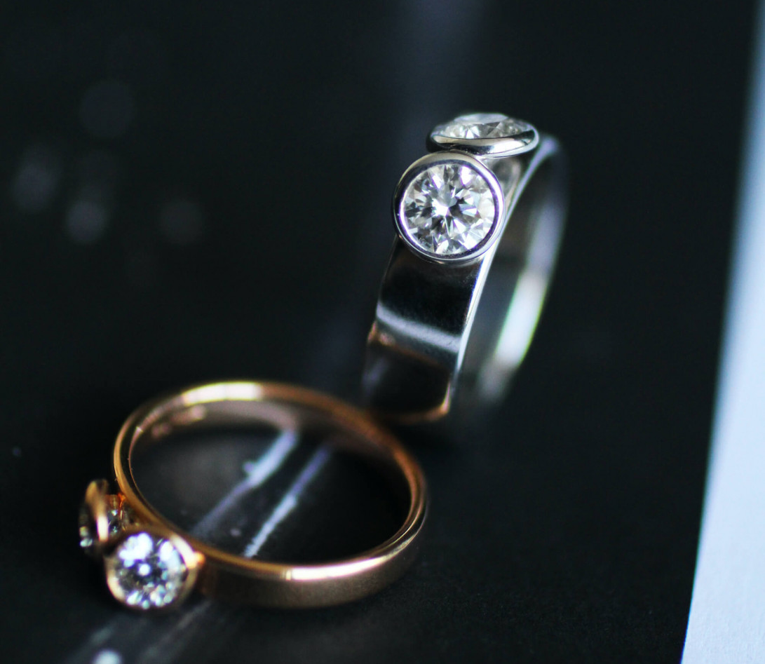 Bague 2 Courbet - Or rose 18K (3,50 g),  diamant 1 carat - Vue 6