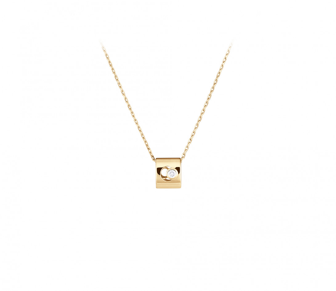 Collier Eclipse - Or jaune 18K (6,30 g), diamant 0,1 ct - Vue 1
