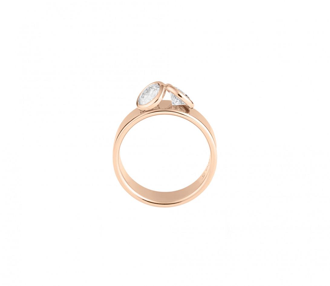 Bague 2Courbet - Or rose 18K (7,00 g),  diamant 1 carat - Vue 2