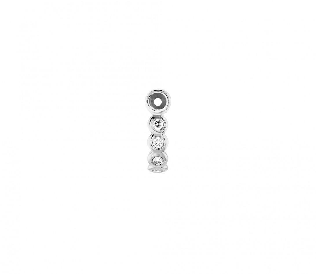 Accessoire mono boucle d'oreille ORIGINE en or blanc - Vue 2