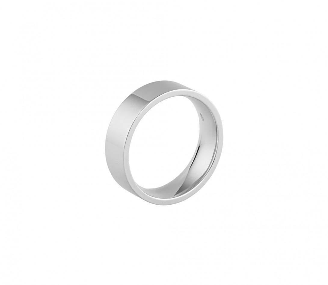 Alliance (6 mm) - Or blanc 18K (8,70 g) - Profil