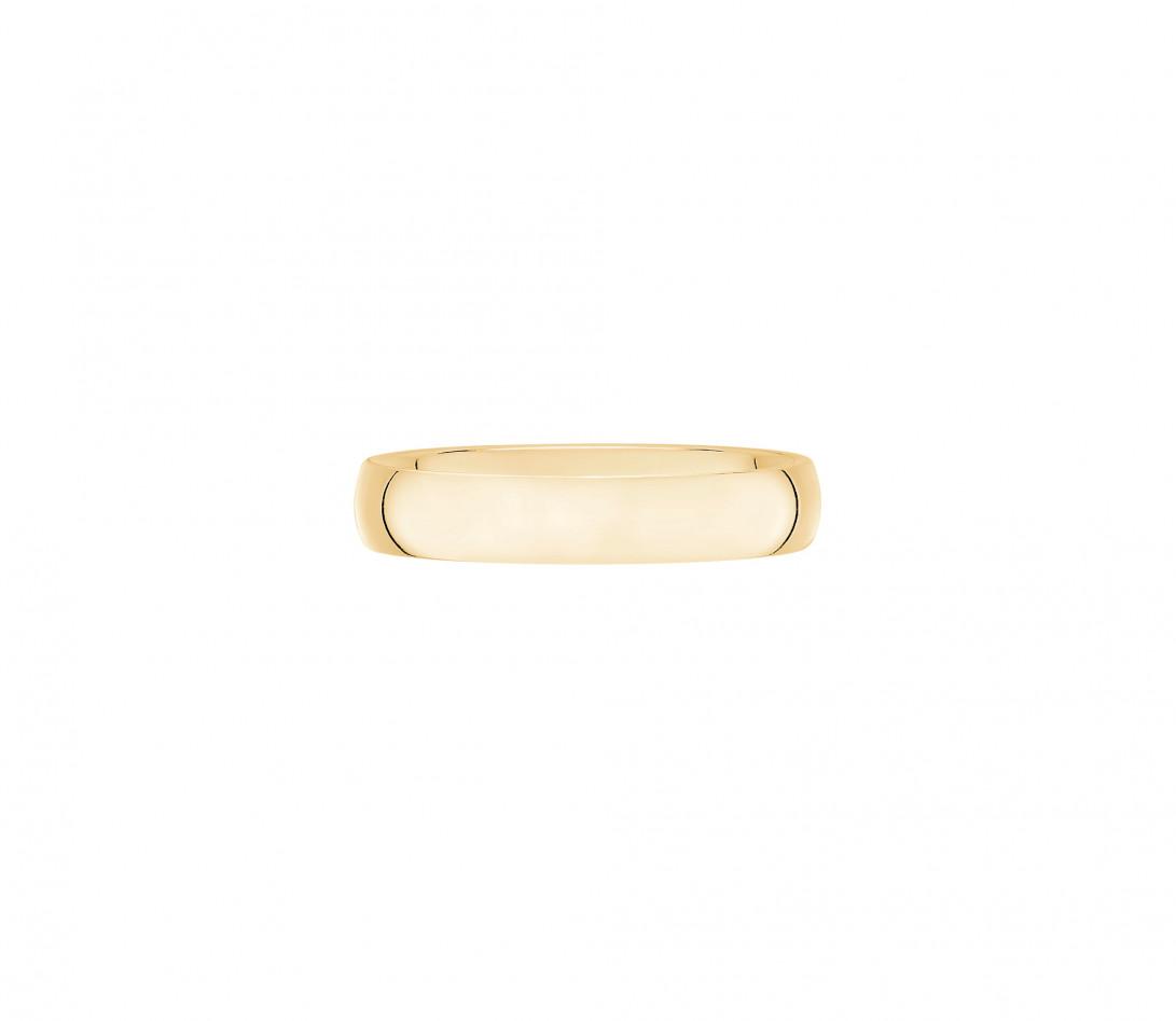 Alliance 4 mm demi-jonc en or jaune-Vue de face