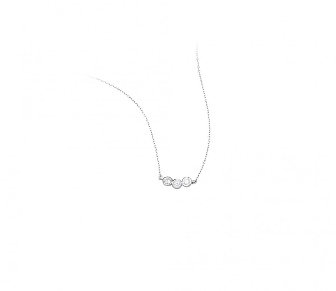 Collier Or Blanc et Diamants de synthèse 0,3 ct - 2 Courbet - Courbet - Vue 2