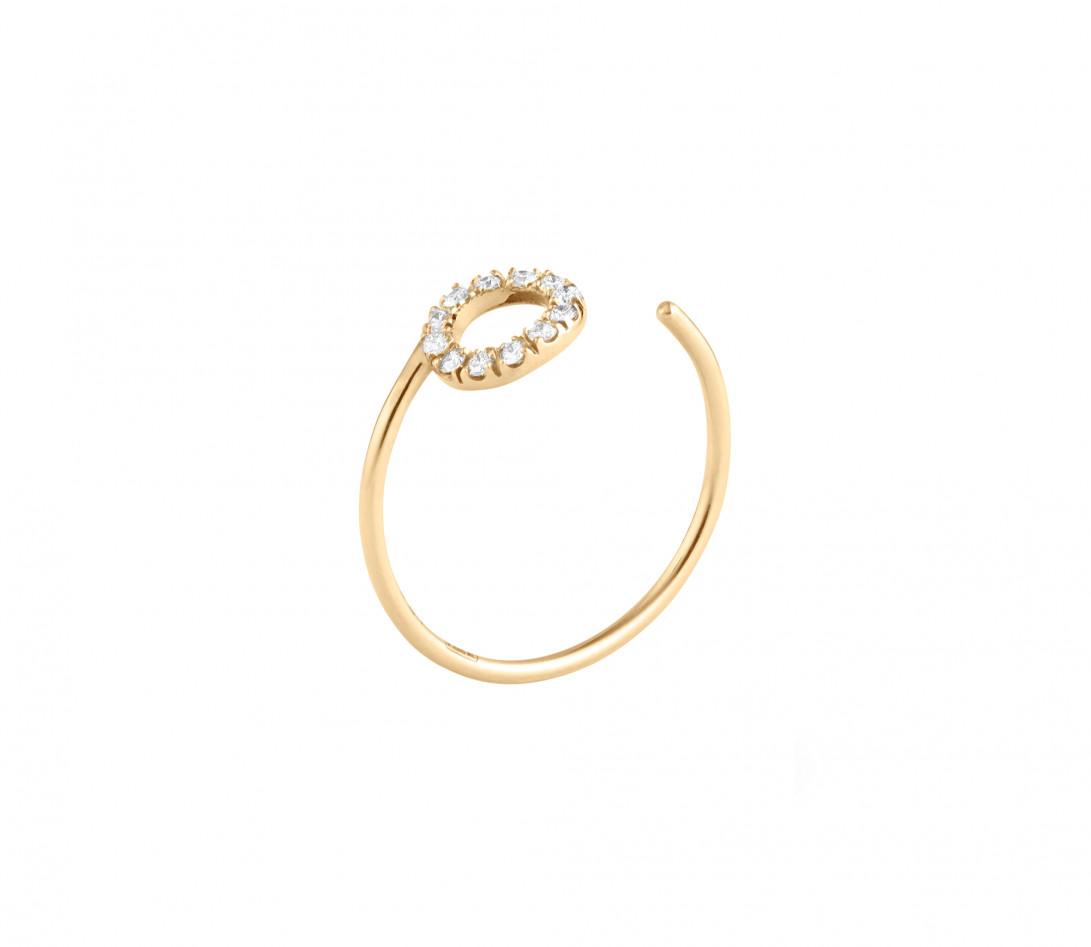 Bague O2 - Or jaune 18K (0,90 g), diamants 0,10 ct - Côté