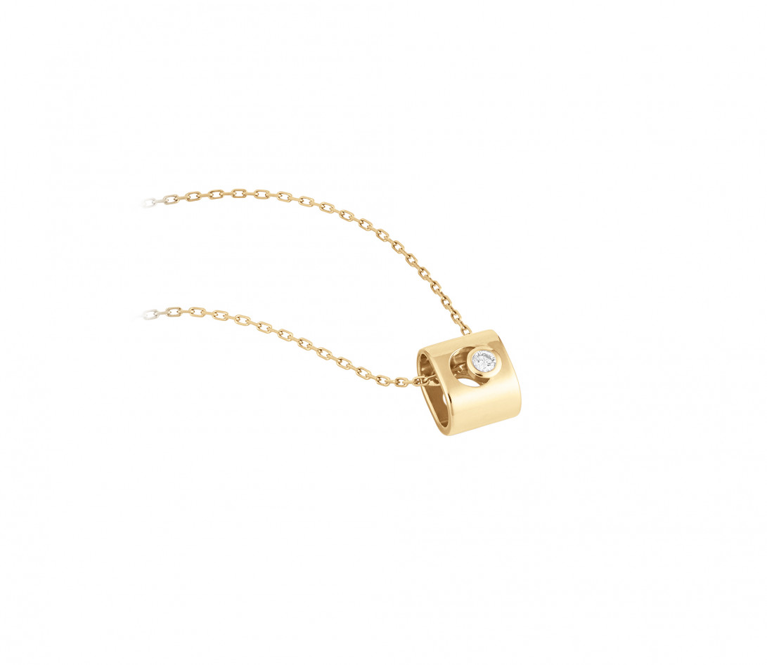 Collier Eclipse - Or jaune 18K (6,30 g), diamant 0,1 ct - Vue 2