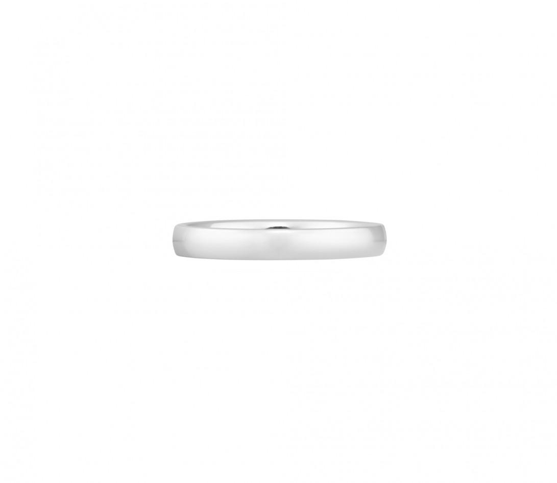 Alliance (3 mm) - Or blanc 18K (4,20 g) - Face