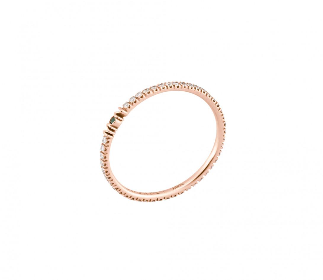 Alliance full-pavée (1,4 mm) - Or rose 18K (1,00 g), diamants 0,20 ct