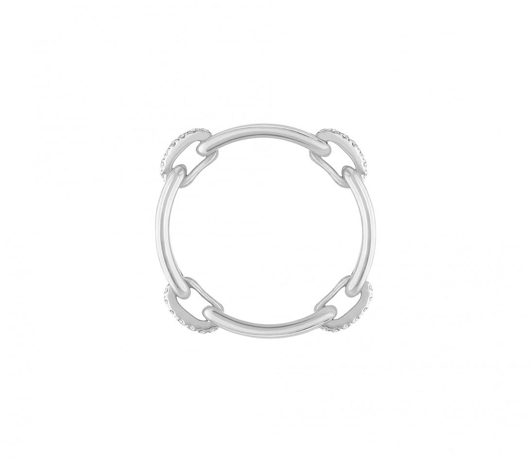 Bague Or Blanc et Diamants 0,15 ct - Céleste - Courbet - Vue 3