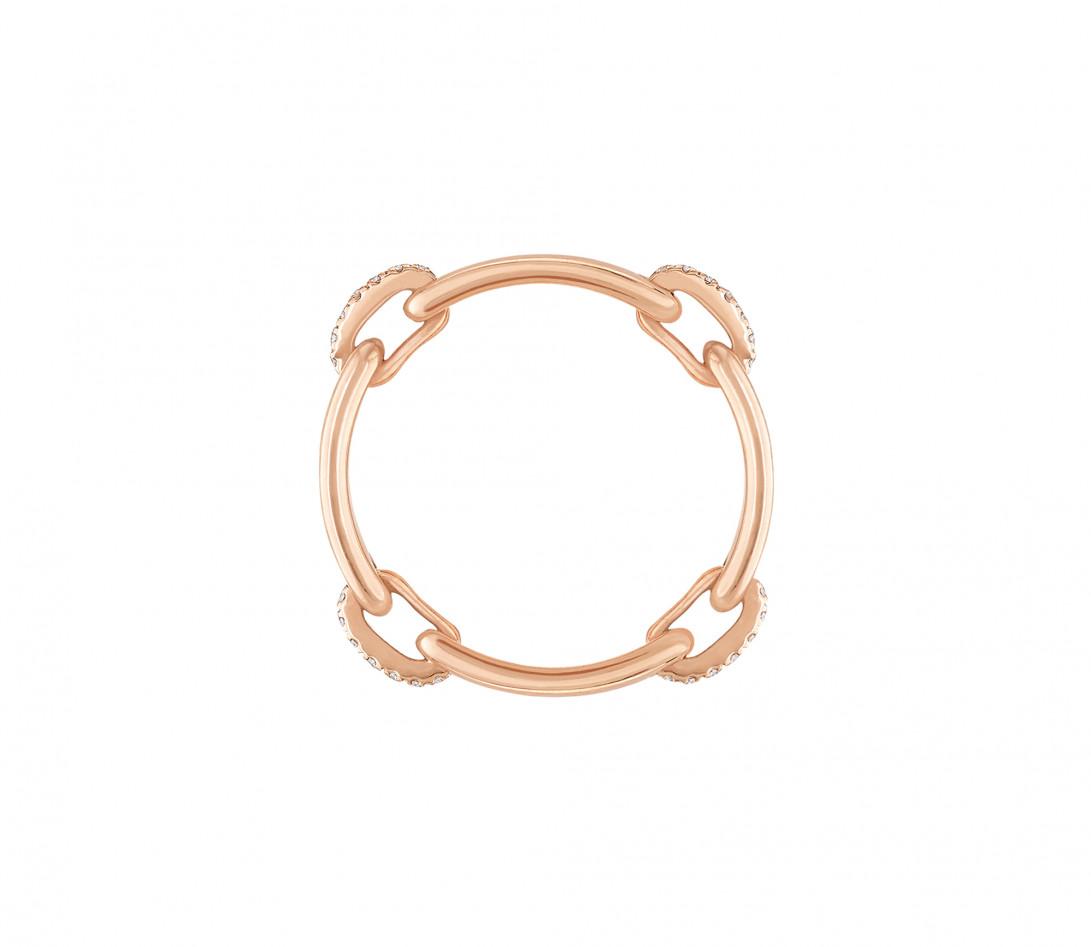 Bague Or Rose et Diamants 0,15 ct - Céleste - Courbet - Vue 3
