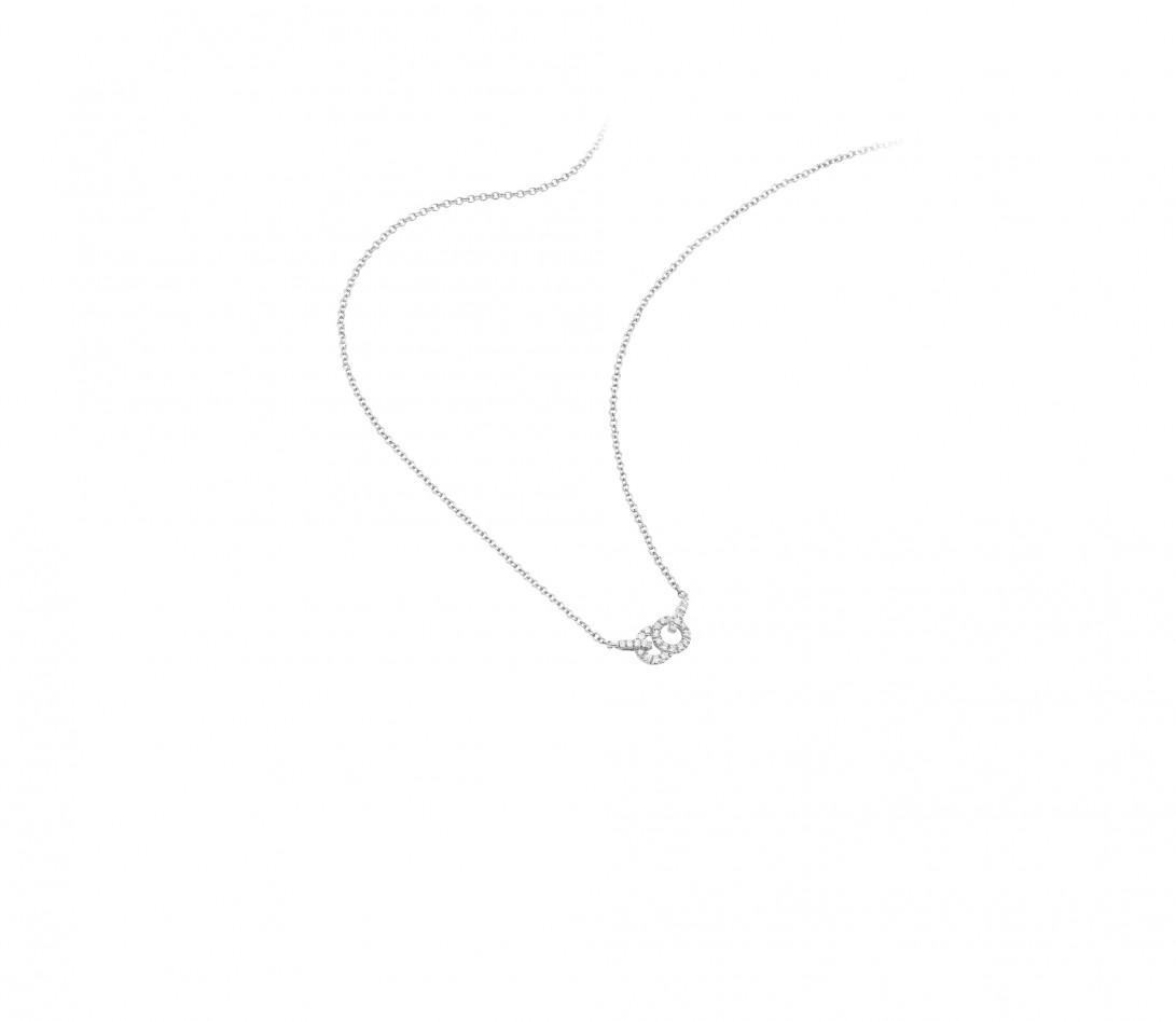Collier pendentif CELESTE PM en or blanc - Courbet - Vue 2