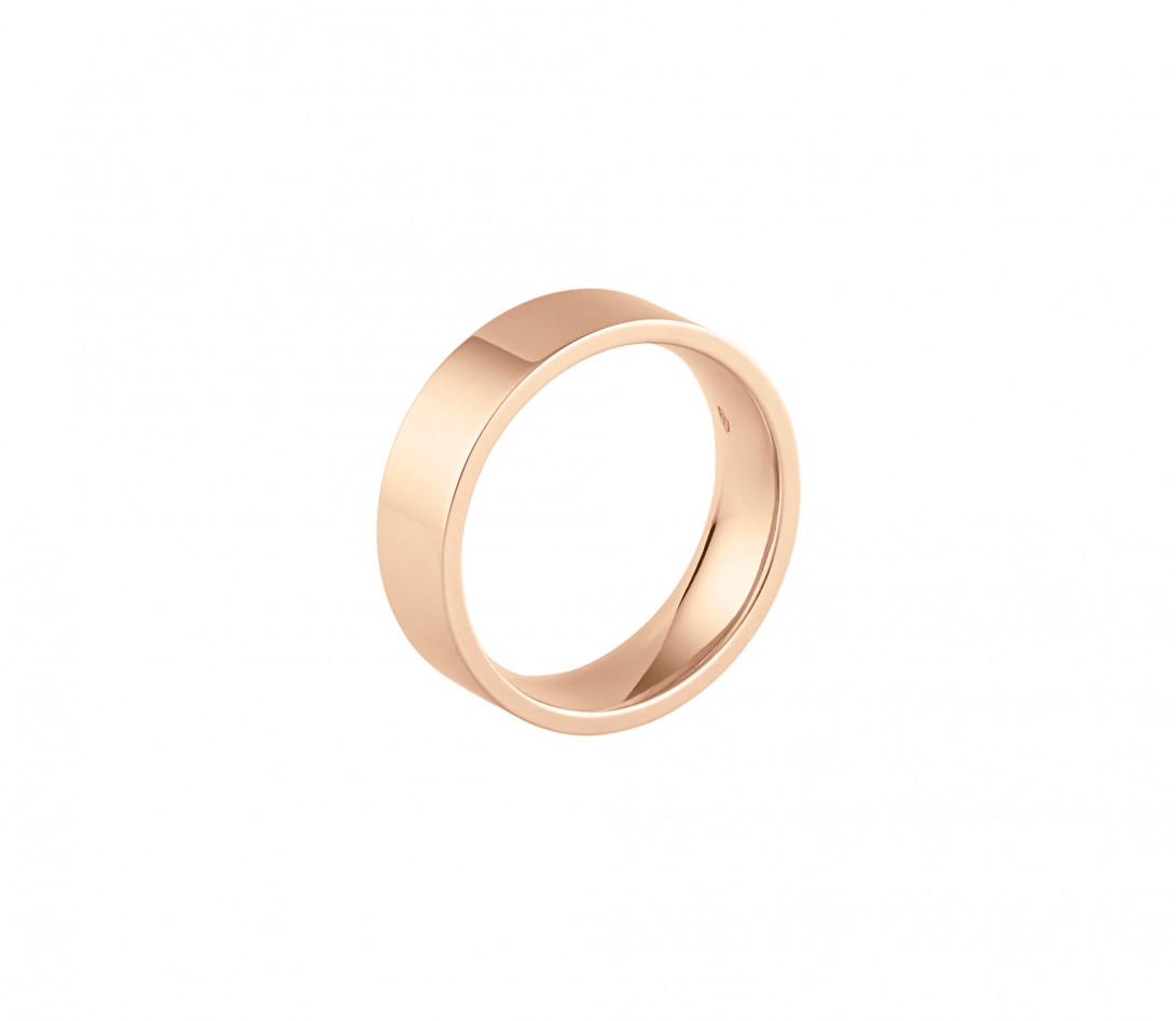 Alliance (6 mm) - Or rose 18K (8,70 g) - Profil