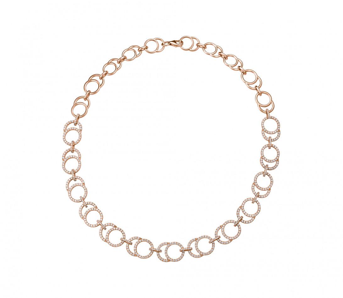 Collier Céleste Joaillerie en or rose 18K - diamants de synthèse 5,25 cts - Courbet - P2